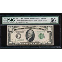 1928B $10 Chicago Federal Reserve Note PMG 66EPQ