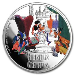 2017 $2 Disney Seasons Greetings Silver Niue Coin