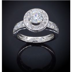 Platinum 0.90ct GIA Cert Diamond Ring