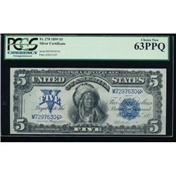 1899 $5 Chief Silver Certificate PCGS 63PPQ