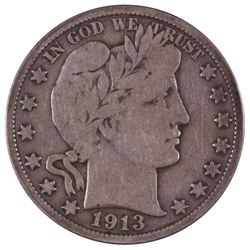 1913 Barber Half Dollar Coin