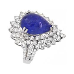 18KT White Gold 6.94ct Tanzanite and Diamond Ring