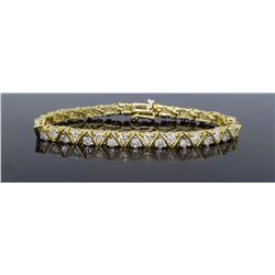 14KT Yellow Gold 6.16ctw Diamond Bracelet