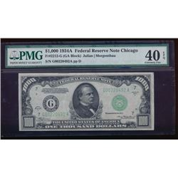 1934A $1000 Chicago Federal Reserve Note PMG 40EPQ