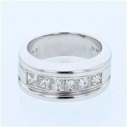 14KT White Gold 1.27ctw Diamond Wedding Band
