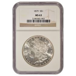 1879 $1 Morgan Silver Dollar Coin NGC MS63