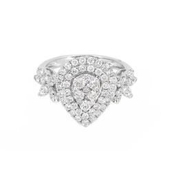 18KT White Gold 1.41ctw Diamond Ring