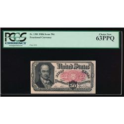 50 Cent Fifth Issue Fractional Note PCGS 63PPQ No Serial Number