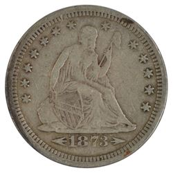 1873-S Arrows Liberty Seated Quarter Coin