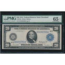 1914 $20 Cleveland Federal Reserve Note PMG 65EPQ
