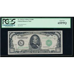 1934A $1000 Chicago Federal Reserve Note PCGS 65PPQ