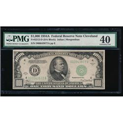 1934A $1000 Cleveland Federal Reserve Note PMG 40