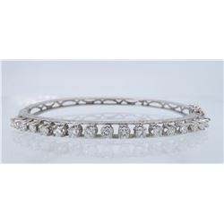 14KT White Gold 1.10ctw Diamond Bracelet