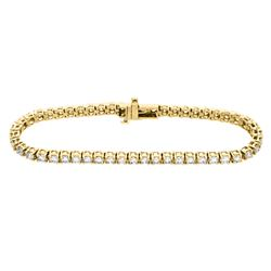 18KT Yellow Gold 5.00ctw Diamond Tennis Bracelet