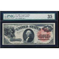 1880 $1 Legal Tender Note PMG 35