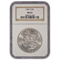 1902-S $1 Morgan Silver Dollar Coin NGC MS63