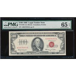 1966 $100 Legal Tender Note PMG 65EPQ