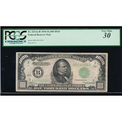 1934 $1000 New York Federal Reserve Note PCGS 30