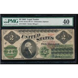 1862 $2 Legal Tender Note PMG 40