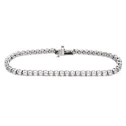18KT White Gold 5.00ctw Diamond Tennis Bracelet