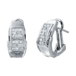 14KT White Gold 1.00ctw Diamond Earrings