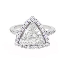 18KT White Gold 3.47ctw Diamond Ring
