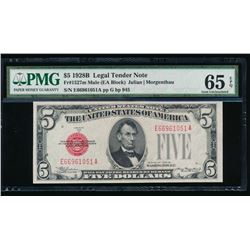 1928B $5 Legal Tender Note PMG 65EPQ
