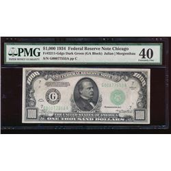 1934 $1000 Chicago Federal Reserve Note PMG 40