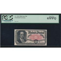 50 Cent Fifth Issue Fractional Note PCGS 65PPQ