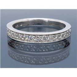 14KT White Gold 0.25ctw Diamond Wedding Band