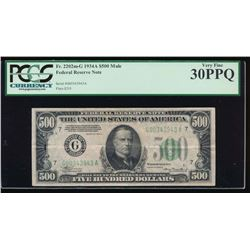 1934A $500 Chicago Federal Reserve Note PCGS 30PPQ