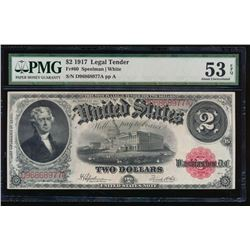 1917 $2 Legal Tender Note PMG 53EPQ