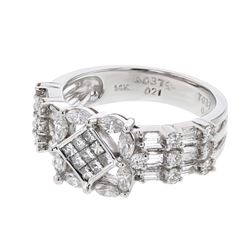 14KT White Gold 1.10ctw Diamond Ring