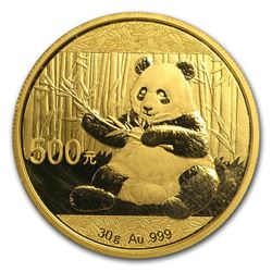 2017 China Panda 500 Yuan Gold Coin