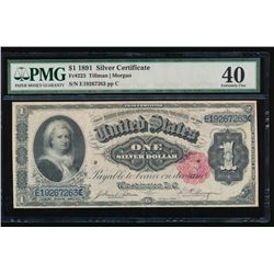 1891 $1 Martha Washington Silver Certificate PMG 40