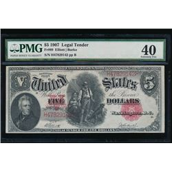 1907 $5 Legal Tender Note PMG 40