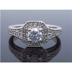 14KT White Gold 0.60ctw Diamond Ring