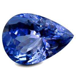 3.29 ct PGTL Certified Extraordinary Pear (11 x 8 mm) Purplish Blue Tanzanite