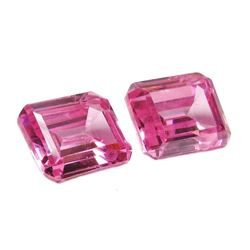 16ctw Octagon Cut Pink BIANCO Diamonds