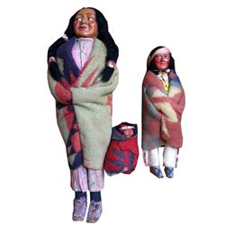 Mid Century Skookum Bully Good Indian Dolls