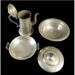 HUGE collection of fine English and American Pewter (12 great pieces)