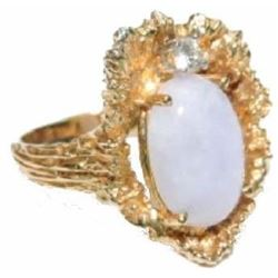 Beautiful Violet Opal and 14k yg ladies ring
