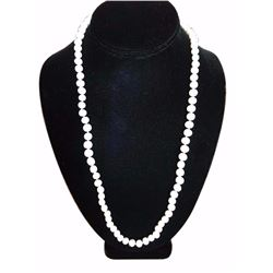 "25"" Strand Natural White Freshwater Pearl Necklace"