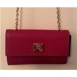 Ralph Lauren Designer Small Red Ashwell Leather Crossbody