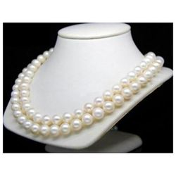 "Aaa+ 36""l 9-10mm White South Sea Pearl Necklace 14k Clasp"