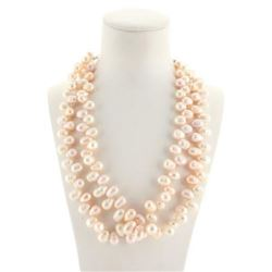 Designer Sterling Pearl Double Strand Necklace