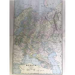 Early color map of Russia (Eastern) by the People's Publishing Co