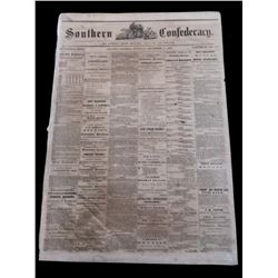 RARE! Southern Confederacy, Atlanta 1862 Newspaper