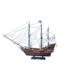 "Captain Kidd's Adventure Galley Limited Model Pirate Ship 36"" - White Sails"