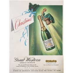 Mid Century Great Western Champagne Ad